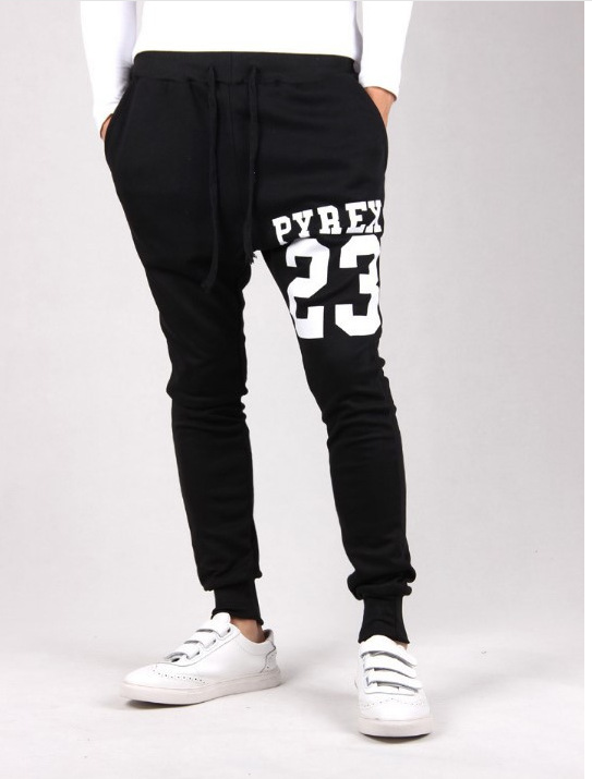 New Style Slim Fit Athletic Pants Men's Harem Printed Pants Skinny Baggy Pants AliExpress Hot Selling With Numbers Printed Athle