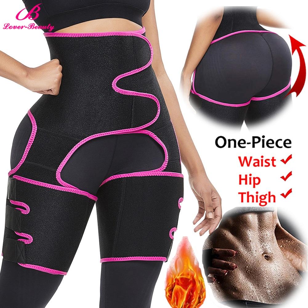 Details about  /Fat Burner Leg Slimming Shaper Sauna Thigh Trimmer Waist Trainer Sweat Shapewear