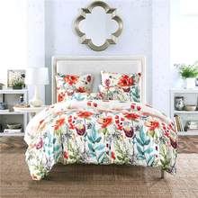 Fashion Bedding Sets Flower Bed Quilt Duvet Cover Pillow Case Home Bedding Articles Bedroom Decor Bedclothes Comforter Cover(China)