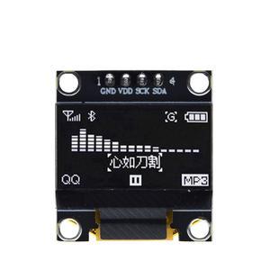 Image 3 - 10 pièces couleur bleu blanc 0.96 pouces 128X64 Module daffichage OLED jaune bleu Module daffichage OLED pour arduino 0.96 IIC SPI communiquer