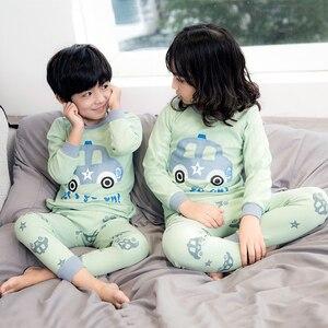2020 zimowe dziecięce piżamy z długimi rękawami piżamy dziecięce chłopcy bielizna nocna T-shirt + spodnie zestawy odzieżowe ubranie dla dziewczynki strój na noc