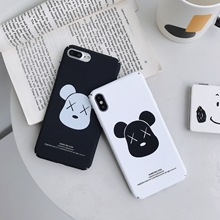 Cartoon  Cool kaw bear hard fitted plastic luxury Couple phone cover phone case for iphone XR XS XS MAX 6 7 8 S Plus