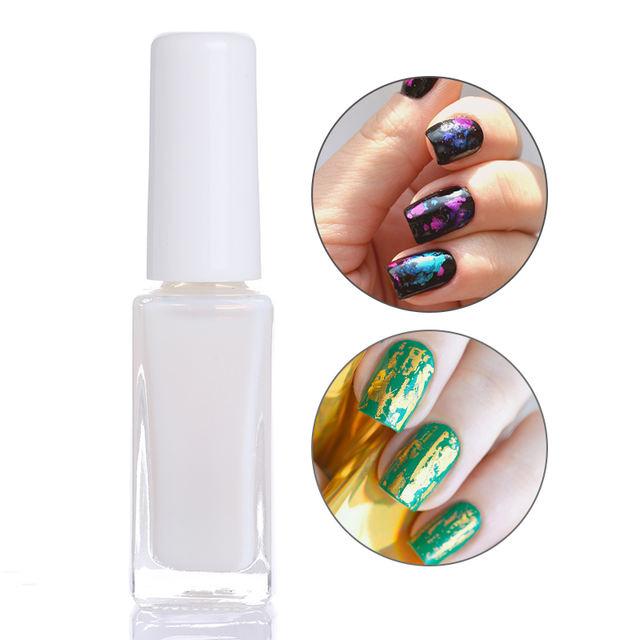 1 Bottle 8/10Ml Nail Foil Glue Glass Bottle Nail Art Glue For Transfer Paper Glue For Nail Foils DIY Manicure Design Tools