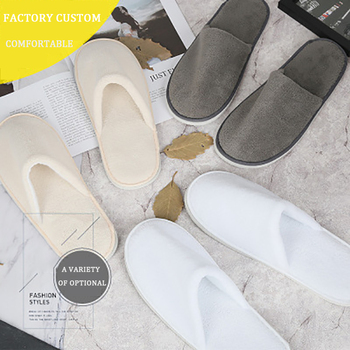 2020 New Slippers A One-time Summer Household Hotel White Terry House Slippers Increase The Thick Section Indoor Comfortable