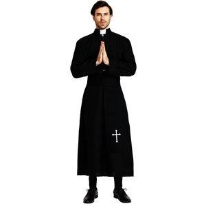 Image 3 - Umorden Disfraz de Pastor religioso para hombre, disfraz de padre para adulto, color negro, fiesta de Halloween, Morado, Mardi Gras