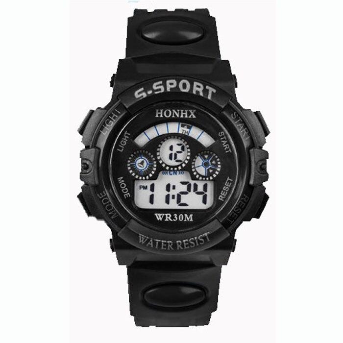 Children Watches For Boys Fashion Outdoor Waterproof Digital LED Quartz Alarm Date Sports style Wrist Watch Red часы детские W3 1