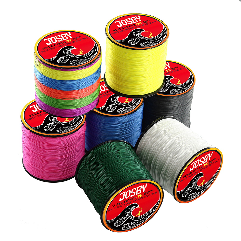 JOSBY  Multicolour Japan PE Fishing Braided Line For Carp Fishing Carp Lines 300M 4 Strand Thread 10 20 30 40 50 60 70 80LB Pink