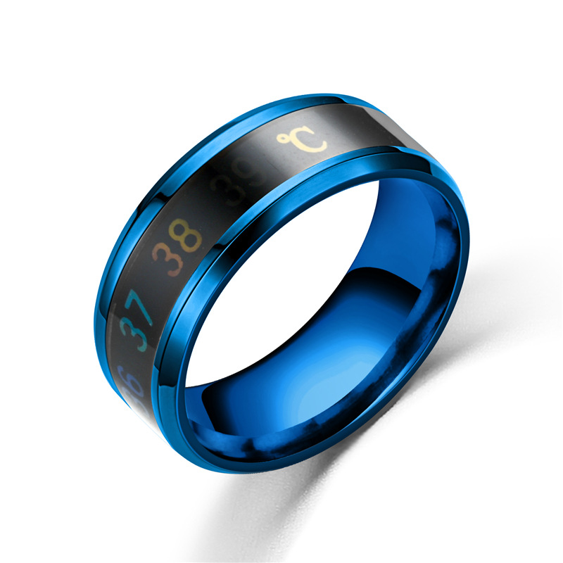 FACEINS Magic Ring For Women and Man Temperature Displays Smart Rings Personality Titanium Steel Finger Jewelry