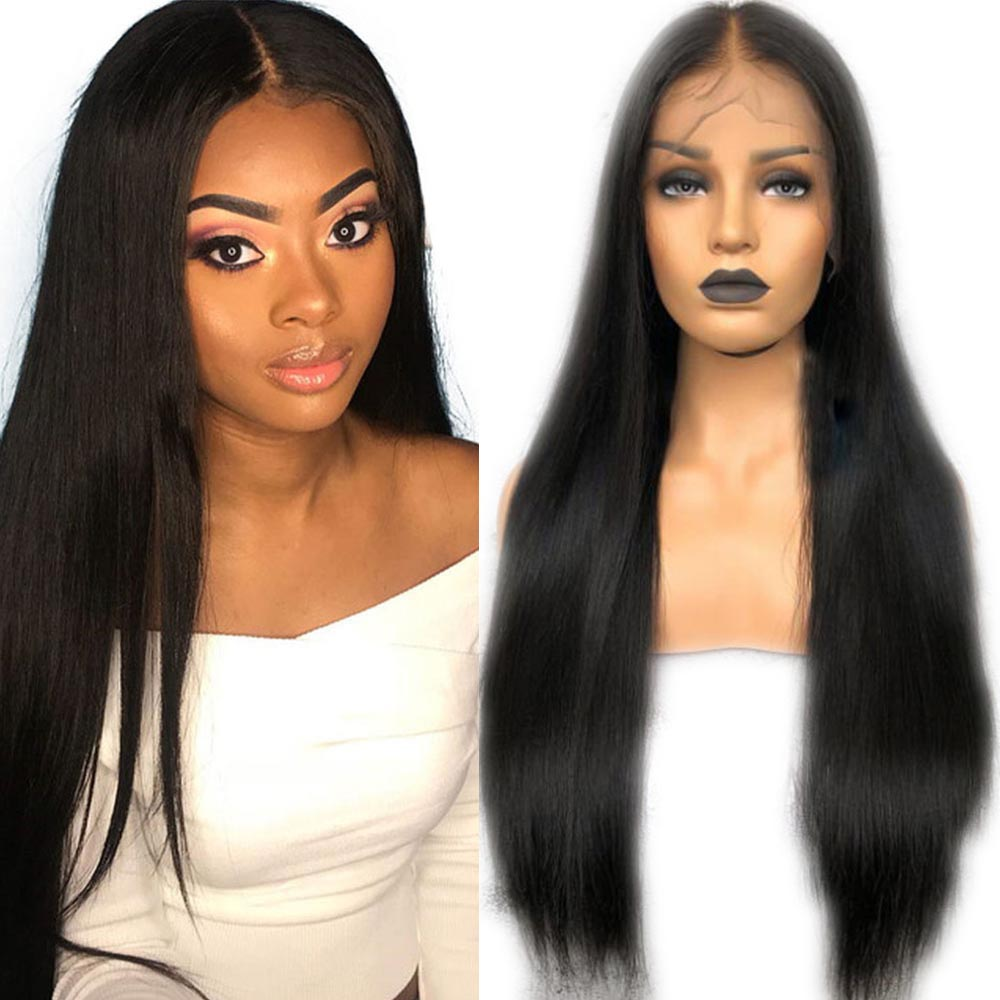 Eversilky Glueless Full Lace Human Hair Wigs With Baby Hair Pre Plucked For Black Women Peruvian Remy Hair Straight Silk Top Wig