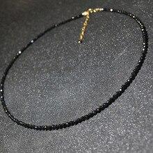 JCYMONG новая мода простой черный камень бисера короткий чокер ожерелье для женщин Женская шея ключицы цепь воротник ожерелье ювелирные изделия
