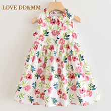 LOVE DD&MM Girls Dresses 2020 New Childrens Clothing Flower Round Neck Princess Dress Kids Clothes For Girl