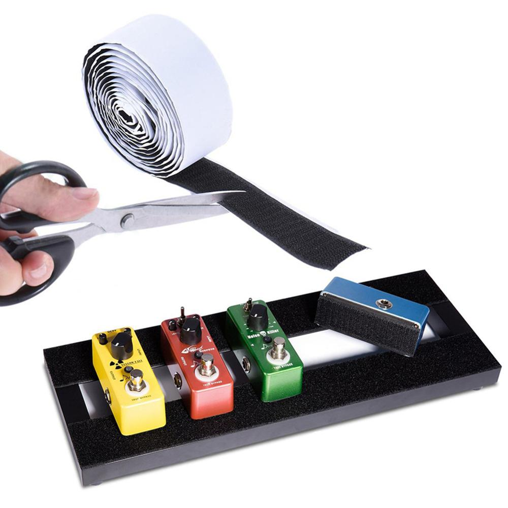 5CM * 2M Guitar Effect Pedal Tapes Paste Block Velcro Suede + Hook Surface Effect Board Accessories