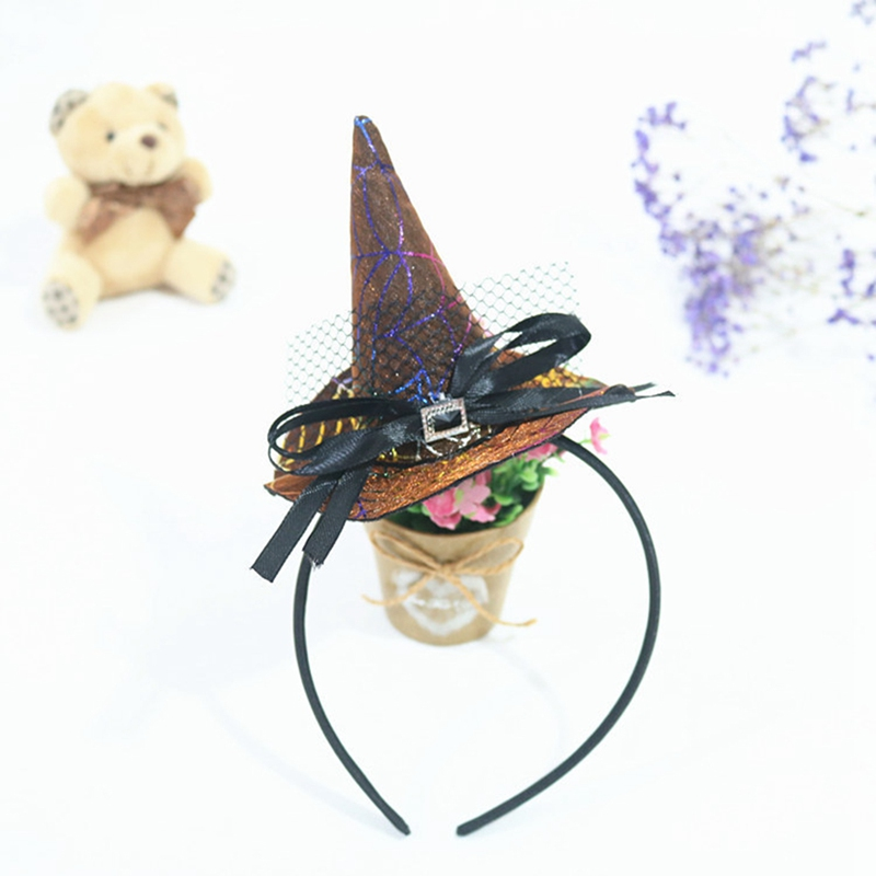 2Pcs/ A Lot Unicorn Halloween Headband Pumpkin Hair Hoop Clip Orange Witch Cosplay Headdress Kids Party Decor Halloween Gifts