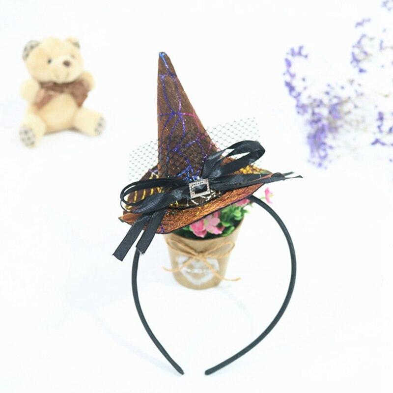 2Pcs/ A Lot Unicorn Halloween Headband Pumpkin Hair Hoop Clip Orange Witch Cosplay Headdress Kids Party Decor Halloween Gifts