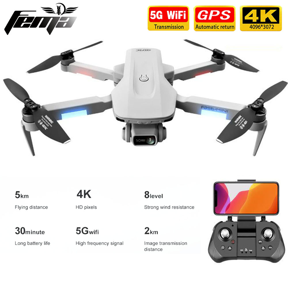 GPS Drone 4K Professional with Dual Camera 5Km Long Distance Brushless 30mins 5G WiFi FPV Foldable Quadcopter Dron PK SG906
