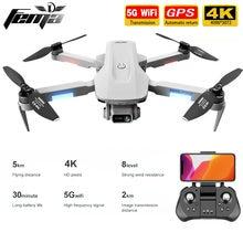 F8 gps zangão 4k profissional com câmera dupla 5km sem escova de longa distância 30 minutos 5g wifi fpv dobrável quadcopter dron pk sg906