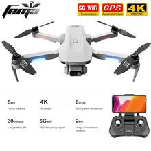 F8 GPS Drone 4K profesjonalny z podwójny aparat 5Km duża odległość bezszczotkowy 30 minut 5G WiFi FPV składany Quadcopter Dron PK SG906 tanie tanio FEMA CN (pochodzenie) Metal Z tworzywa sztucznego ABOUT 5KM 22 x 18 x 5cm unfold 9 x 14 x 5cm fold follow the manual Mode1