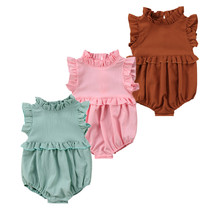 Pudcoco Summer Infant Newborn Baby Girl Ruffle Frill Romper Sleeveless Clothes Vintage Princess Jumpsuit Sunsuit Outfits Clothes pudcoco cute newborn kids baby girl infant lace romper dress jumpsuit playsuit clothes outfits