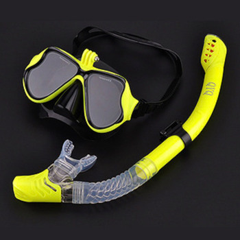 Snorkeling Mask Snorkel Tube Set Diving Mask Anti-Fog Swimming Diving Goggles Snorkel Tube For GoPro Underwater Sports Camera 10