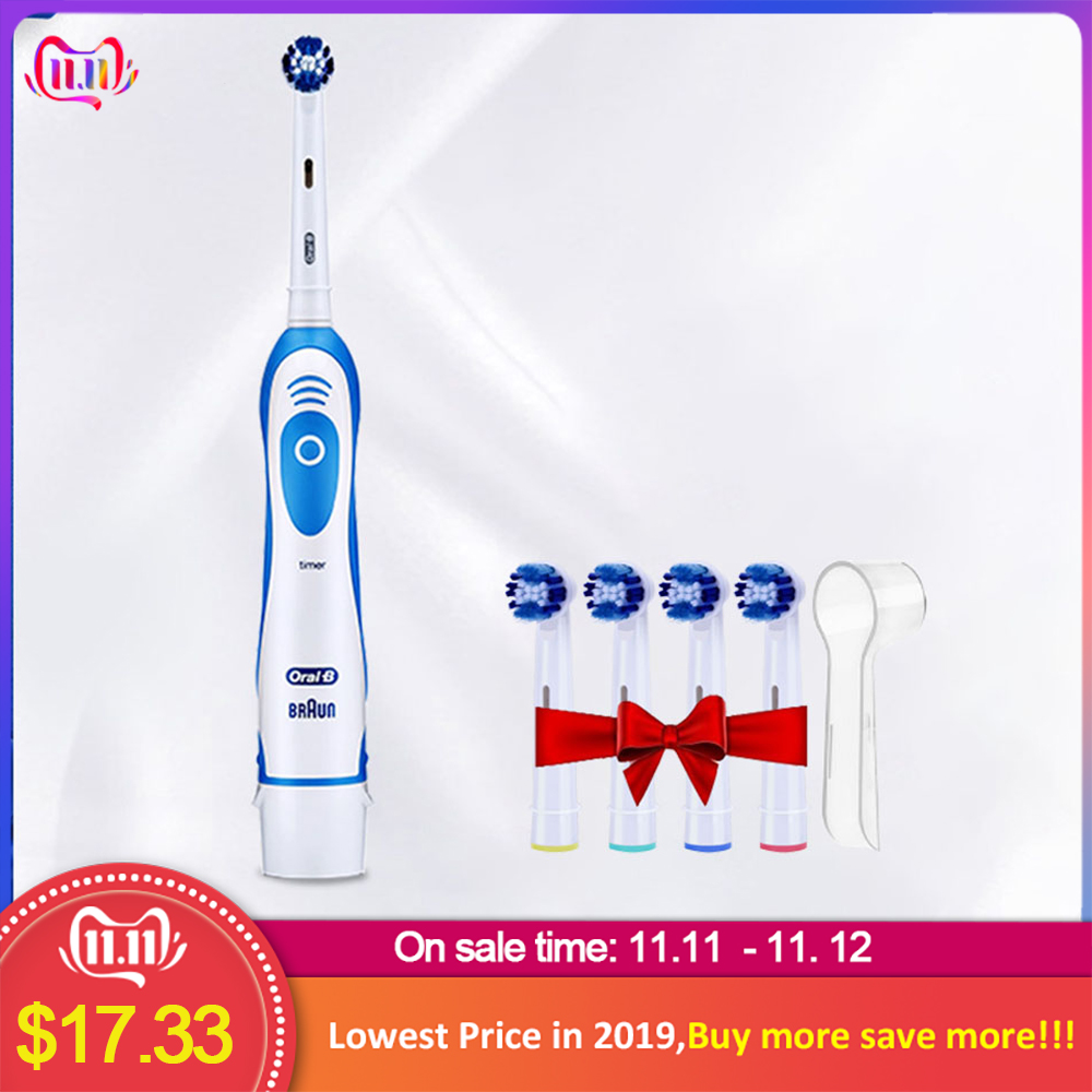 Oral B D4 Sonic Toothbrush Deep Clean Battery Vitality Tooth Brush Heads Dental Care Pro Health Teeth Brush For Adult