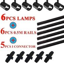 Led-Track-Lights Clothing Rail Shop Aluminum for Whole-Set 12/20/30/40w