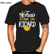 T-Shirt col rond pour homme et femme, 100% coton, avec impression personnalisée, Frais comme un ricard, vin