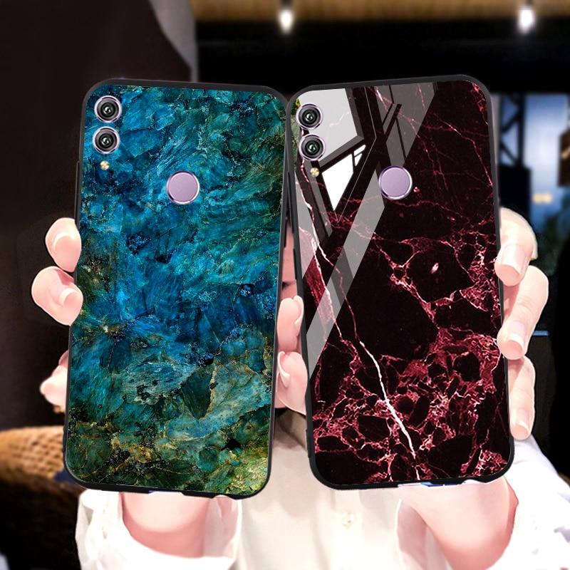 Gehärtetem Glas Fall Für Huawei Ehre 8x Max 10i 10 9 Lite Fällen Marmor Stoßstange Ehre 20 8A 8C 8S 7A 7C Pro Spielen 3 Abdeckungen Fundas