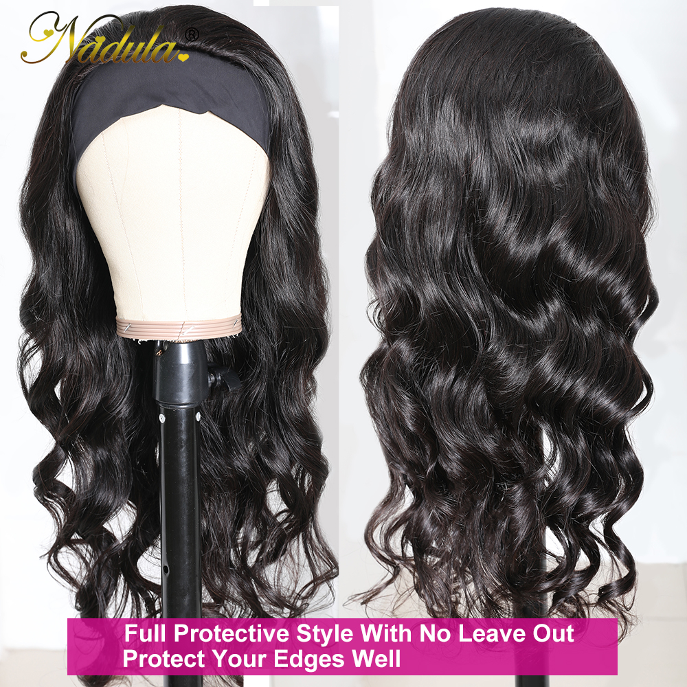 Body Wave Headband Wig No GLUE Headband Wig  for Black Women Nadula Hair Wigs Best and Easiest For Beginners 4