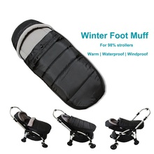 Universal stroller accessories foot cover Winter Pram travel sleeping bag for 98% strollers BABYZEN YOYO Cybex Goodbaby Bee 5