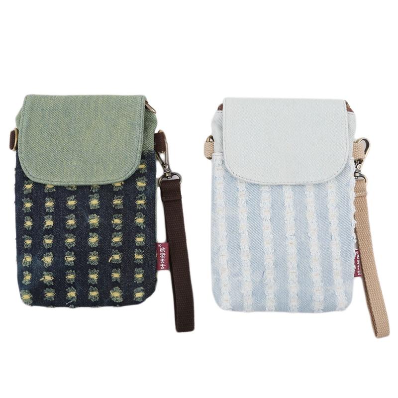 Mini Denim Bags for Women Fashion Pouch Clutches Single Strap Messenger Bags High Quality Flap Pocket Bags