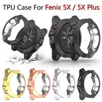 Screen Protector Fall für Garmin Fenix 5x Plus Ultra Slim Weiche TPU Smart Uhr Abdeckung für Garmin Fenix 5x Schutz stoßstange Shell