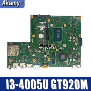 Amazoon  X540LJ Laptop motherboard for ASUS X540LJ X540L F540L X540 Test original mainboard 4G-RAM I3-4005U GT920M