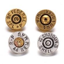 10 unids/lote, joyería intercambiable con broche, letras Vintage Mini, botones de Metal de 12mm para DIY, pulsera de botón a presión de cuero