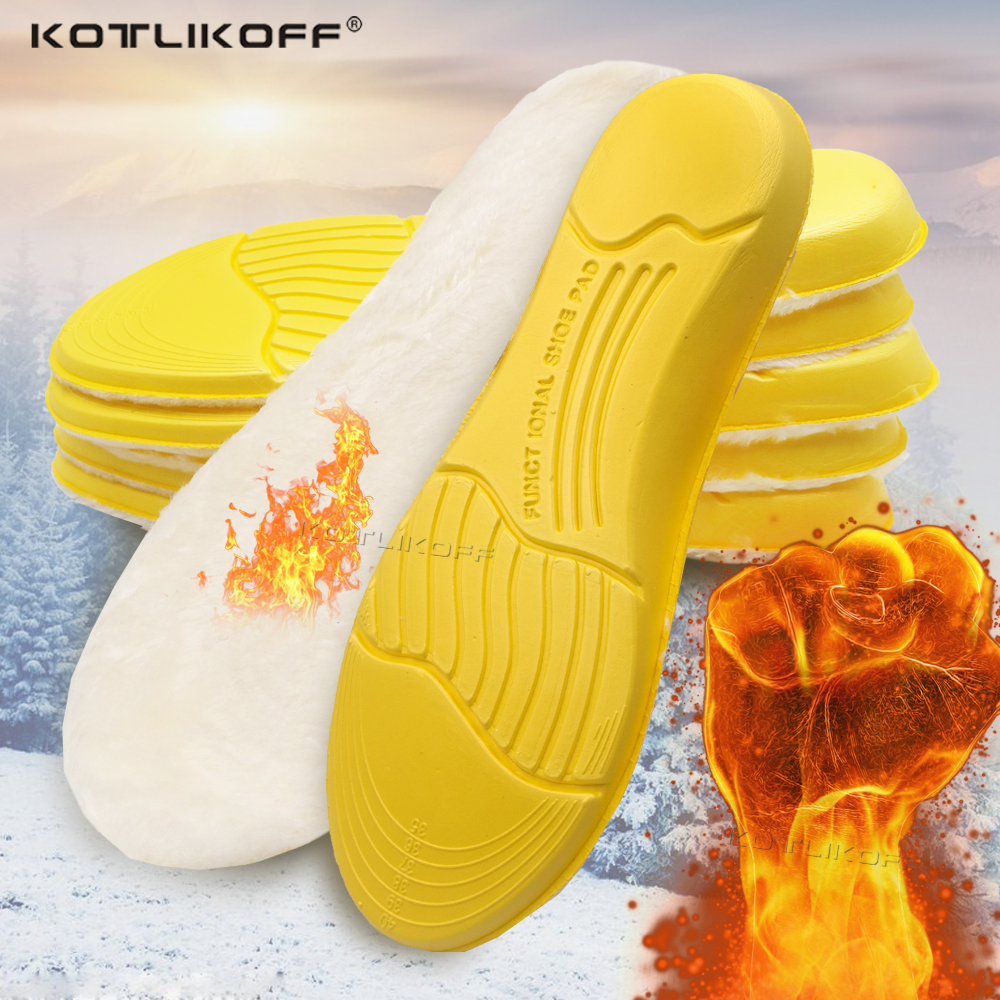 Keep Warm Heated Cashmere Thermal Insole For Feet Thicken Soft Breathable Winter Sport Shoes Insert For Man Woman Boots Pad Sole