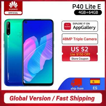 Перейти на Алиэкспресс и купить Глобальная версия Huawei P40 Lite E смартфон 4 Гб 64 Гб 6,39 дюйма 48 МП Тройная AI камера разблокировка отпечатков пальцев мобильные телефоны 4000 мАч