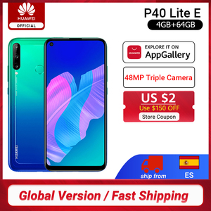 Глобальная версия Huawei P40 Lite E смартфон 4 Гб 64 Гб 6,39 дюйма 48 МП Тройная AI камера разблокировка отпечатков пальцев мобильные телефоны 4000 мАч