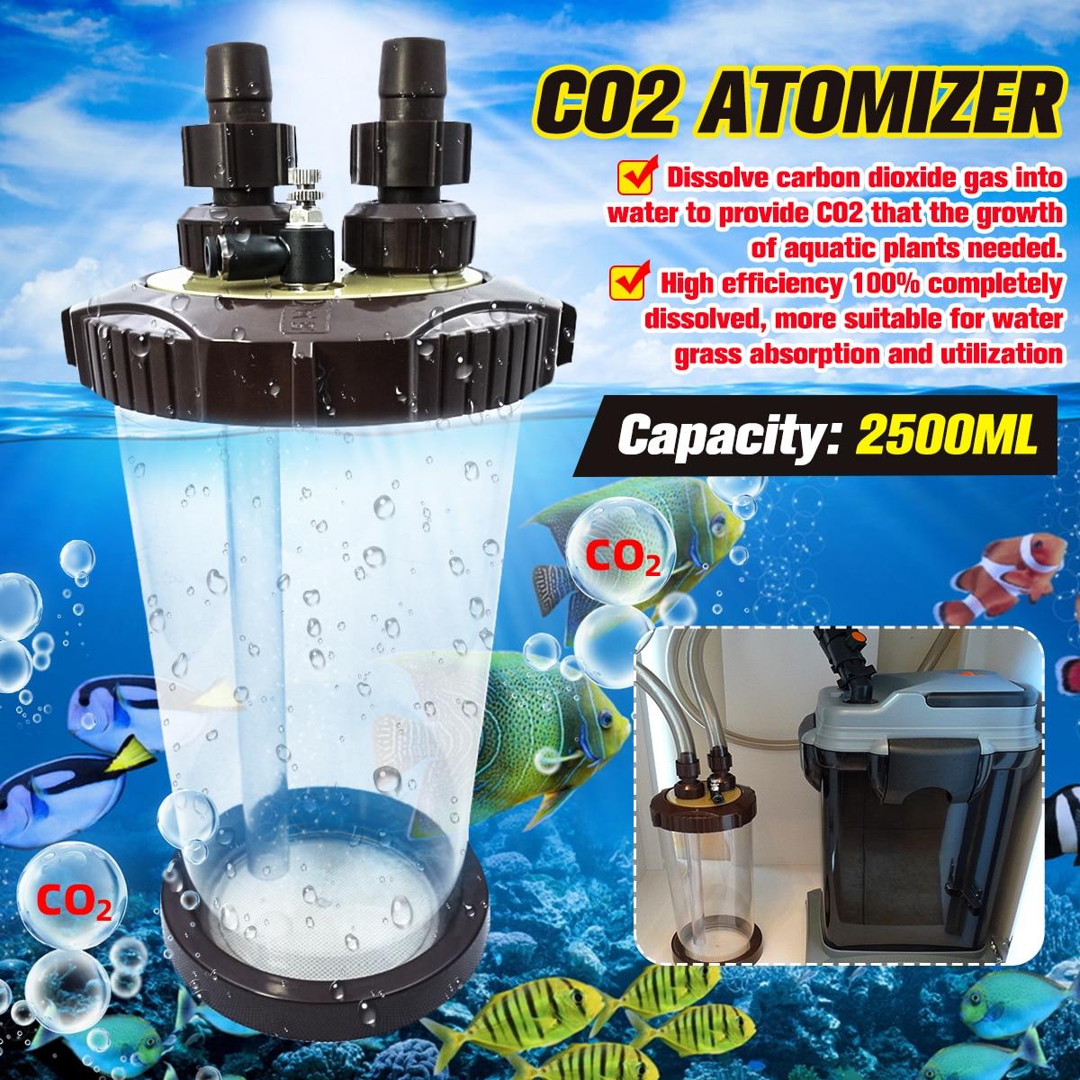 Chiaro CO2 Atomizzatore Esterno Turbo Super Diffusore Atomizzatore Serbatoio di Pesci D'acquario WaterPlant Fish Tank Paesaggio Acquatico 2500ML|CO2 Equipment| - AliExpress