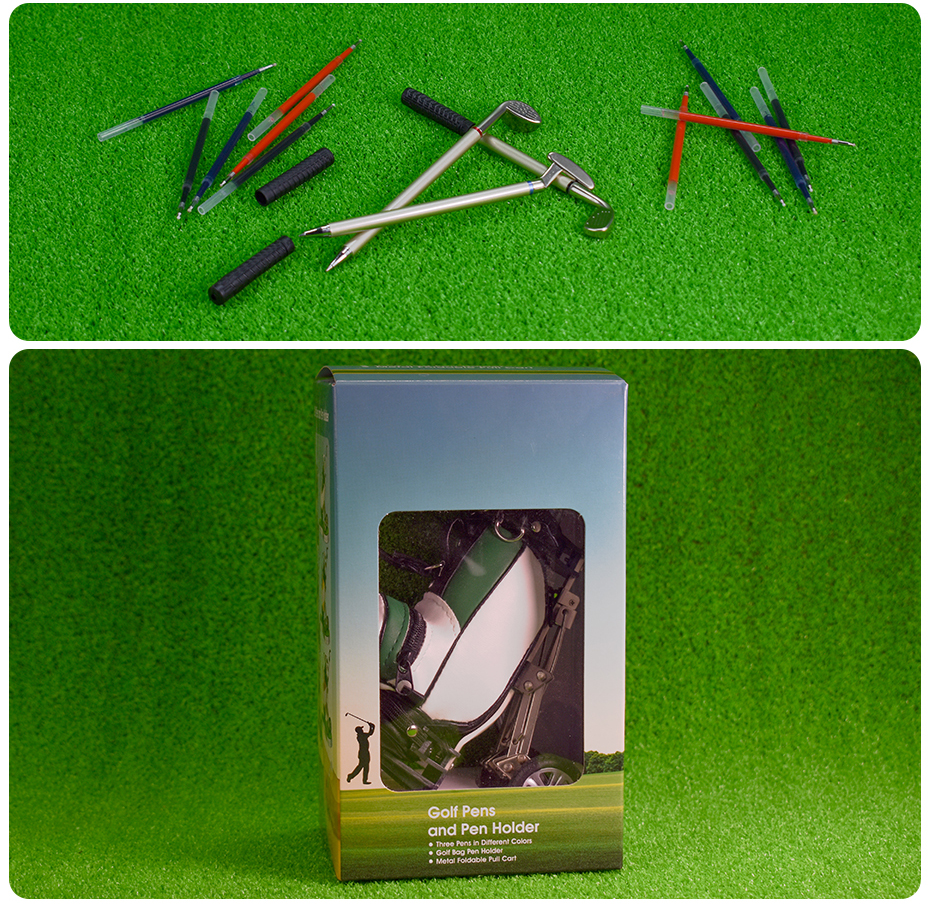 Leather Golf Pens Holder with Oval Lawn Base 11