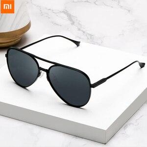 Image 1 - 100% Origianl Xiaomi Mijia Aviator Pilot Traveler Sunglasses Polarized Lens Sunglasses for Man and Woman mi life Sunglas