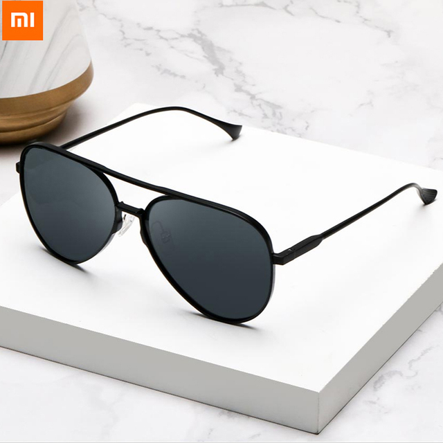 100% Origianl Xiaomi Mijia Aviator Pilot Traveler Sunglasses Polarized Lens Sunglasses for Man and Woman mi life Sunglas