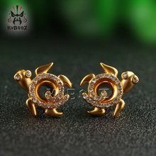 Beauty Turtle Shape Fashion Ear Piericng Tunnels Cute Earrings Ear Gagues Stainless Steel Gift For Women Sell By Pair цена
