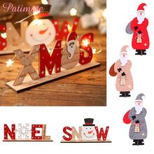 PATIMATE Christmas Decorations For Home Merry Wooden Ornament 2019 Navidad Natal Gift Happy New Year Decoration 2020
