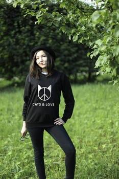цена Cat Lover Print, Cat Shirt, Funny Sweatshirt, Cute Sweatshirt, Cat Print, Hipster Sweatshirt, Animal Lovers Gift, Cat Love -E006 онлайн в 2017 году