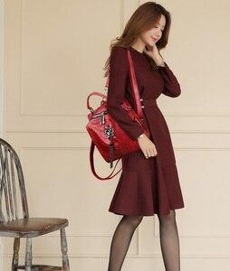 Image 2 - Backpack For Teenager Girls School Bag Studded Tassel Bagpack Sac A Dos Women Leather Small Travel Backpack Shoulder Bag Mochila