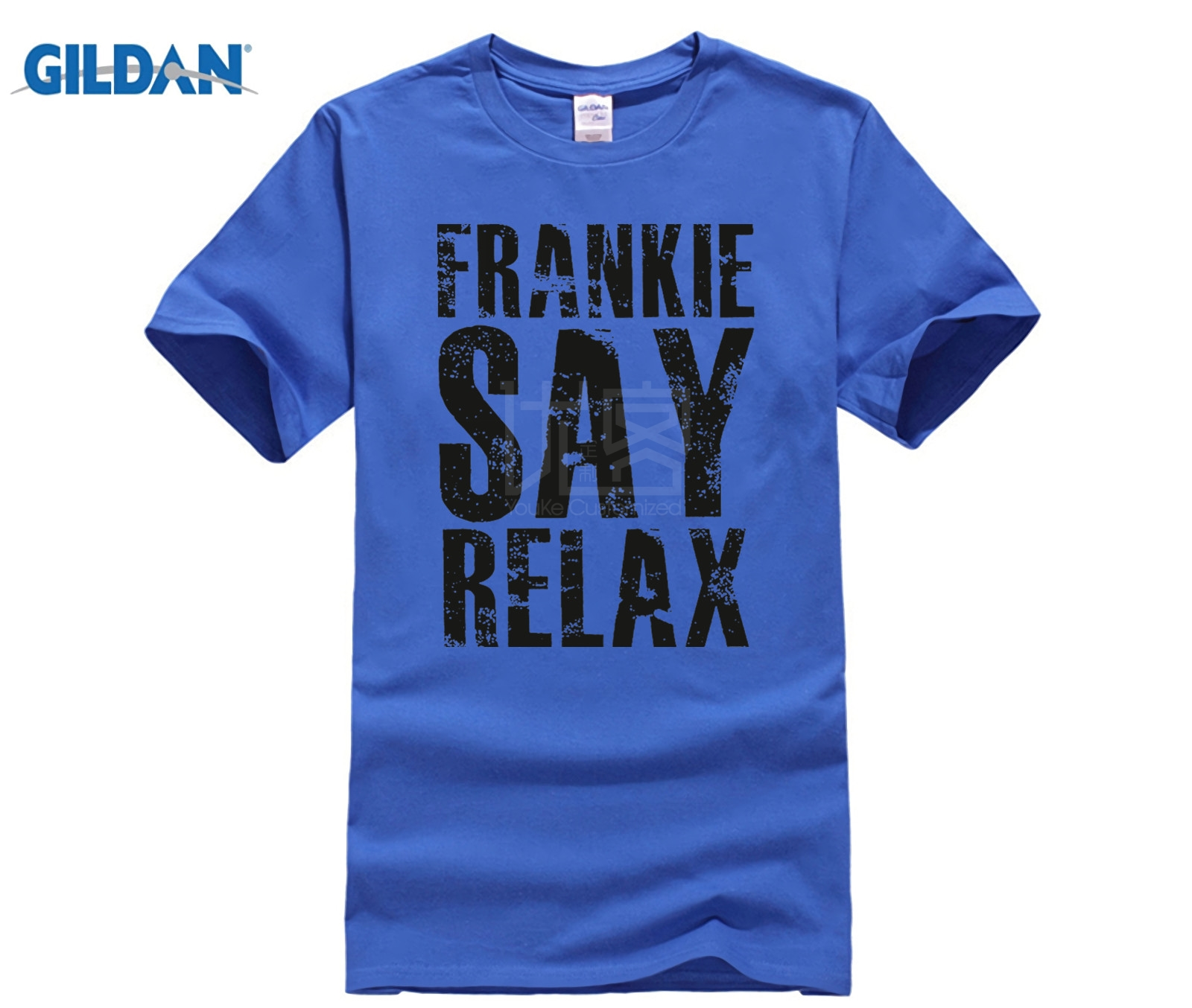 HOT deals New Metal Short Sleeve Casual Shirt Frankie Say Relax T-shirt Funny Retro Soft Goes To Hollywood 80s Music Tee image