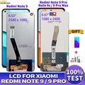 ЖК-дисплей для Xiaomi Redmi note 9, ЖК-дисплей с сенсорным экраном и дигитайзером в сборе для Redmi Note 9 Pro, ЖК-дисплей для замены REDMI Note 9s 9ProMax