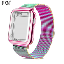 Milanese Loop Watch Strap Case for Apple Watch Band Watchband Iwatch 3 2 Bracelet Stainless Steel 5 4 44mm 40mm Iwatch 42mm 38mm watch case strap for apple watch 4 3 iwatch band 42mm 38mm 44mm 40mm milanese loop link bracelet stainless steel watchband