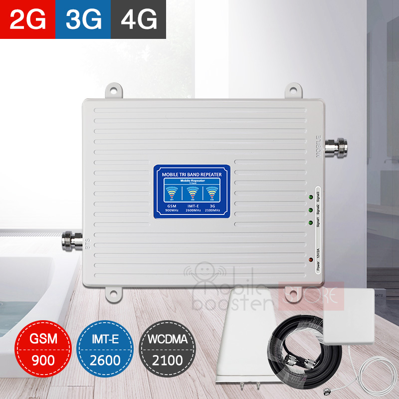 2g 3g 4g Gsm Signal Repeater Gsm 900 Wcdma/umts 2100 Fdd/lte 2600 4G Cellular Booster Mobile Signal Repeater Amplifier Kit