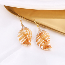Fashion Earrings For Women Za 2019 Statement Bohemian Long Gold Shell Conch Drop Dangle Female Party Jewelry Wholesale
