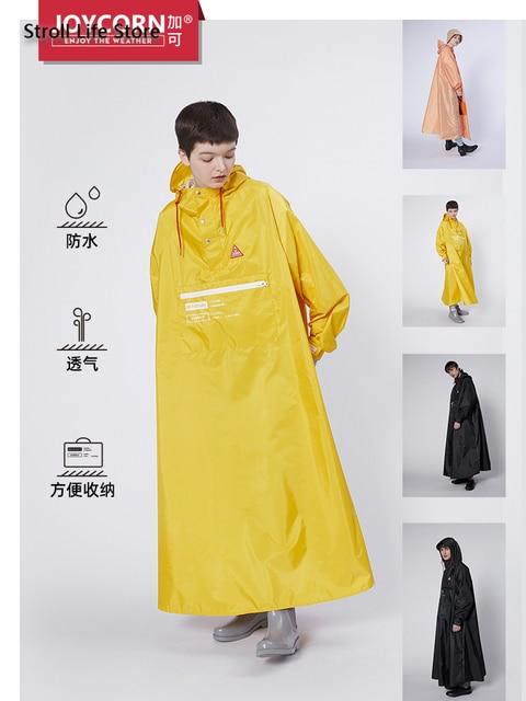 Long Style Women Raincoat Full Body Windproof Motorcycle Rain Coat Jacket Riding Poncho Men Yellow Gabardina Mujer Birthday Gift 2